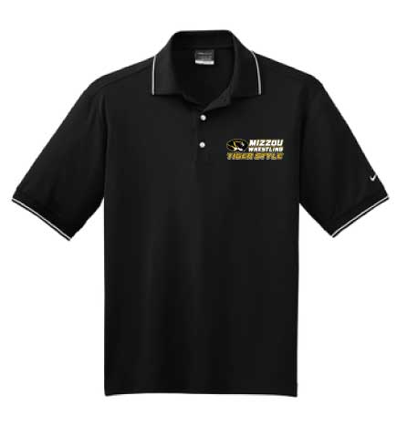 Nike® Dri-FIT™ Classic Tipped Polo, color: Black/White