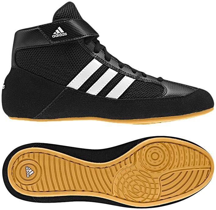 Adidas HVC 2 Wrestling Shoes, color: Black/White/Gum