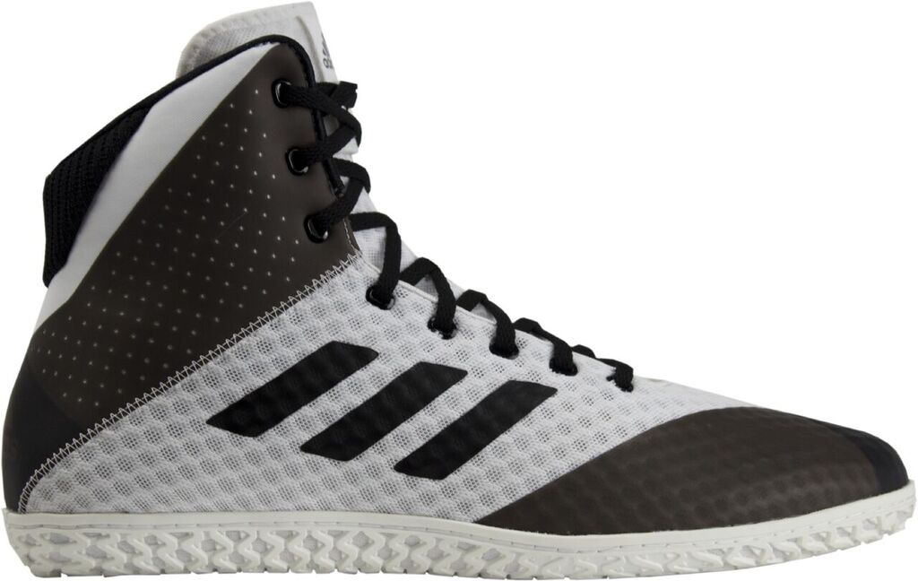 NEW! adidas Mat Wizard 4 Wrestling Shoe, color: White/Black