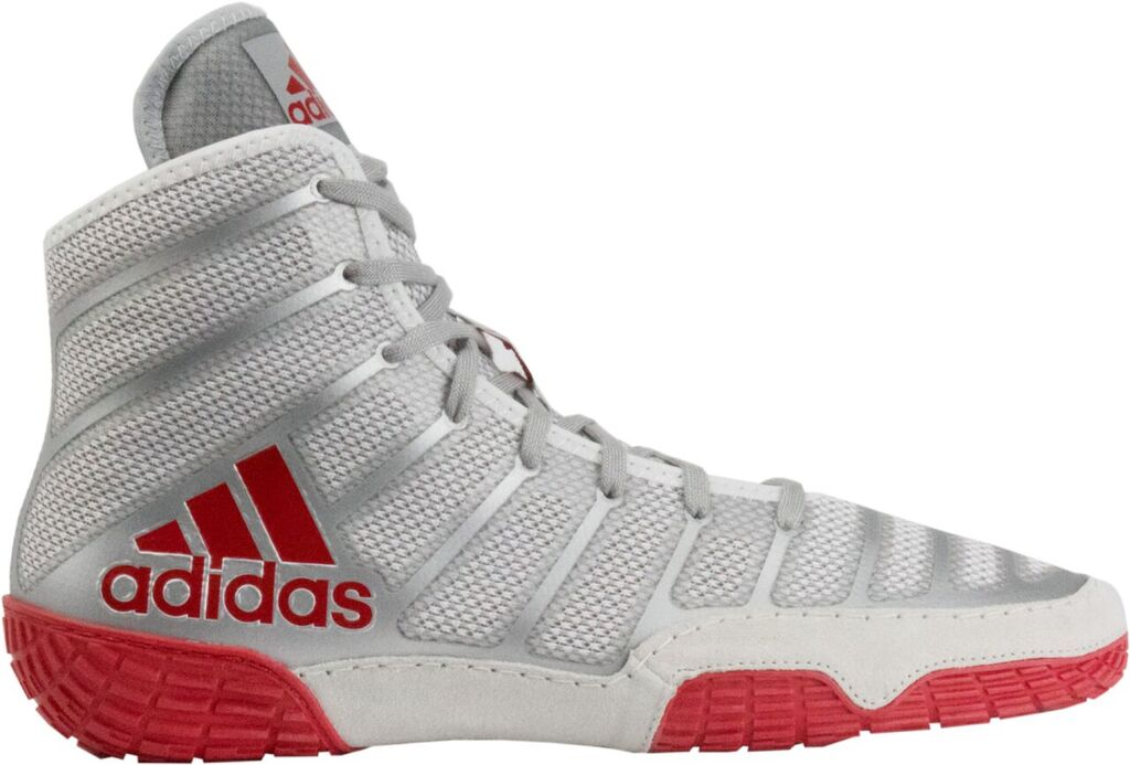 NEW!! adiZero™ Varner II Wrestling Shoes, color: Red/Silver/Red