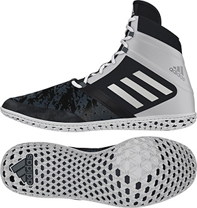 adidas Impact™ Wrestling Shoes, color: Black/Silver/White