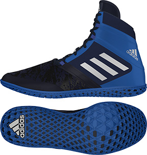 adidas Impact™ Wrestling Shoes, color: Navy/Silver/Royal