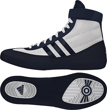 Adidas Combat Speed 4 Wrestling Shoes, color: White/Navy