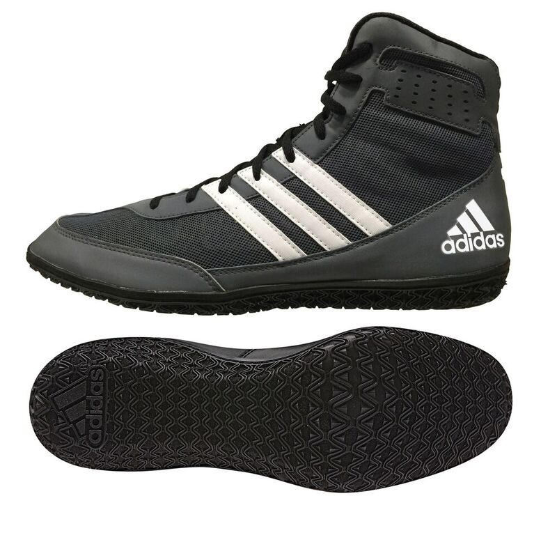 adidas Mat Wizard Wrestling shoe, color: Grey/Black/White