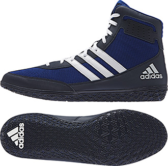 adidas Mat Wizard Wrestling shoe, color: Royal/White/Navy