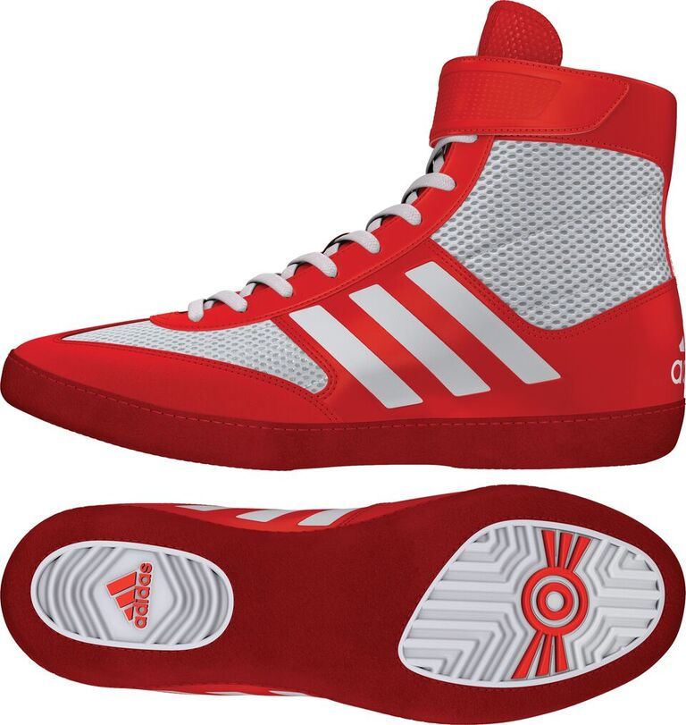 Adidas Combat Speed 5 Wrestling Shoes, color: Red/White/Red