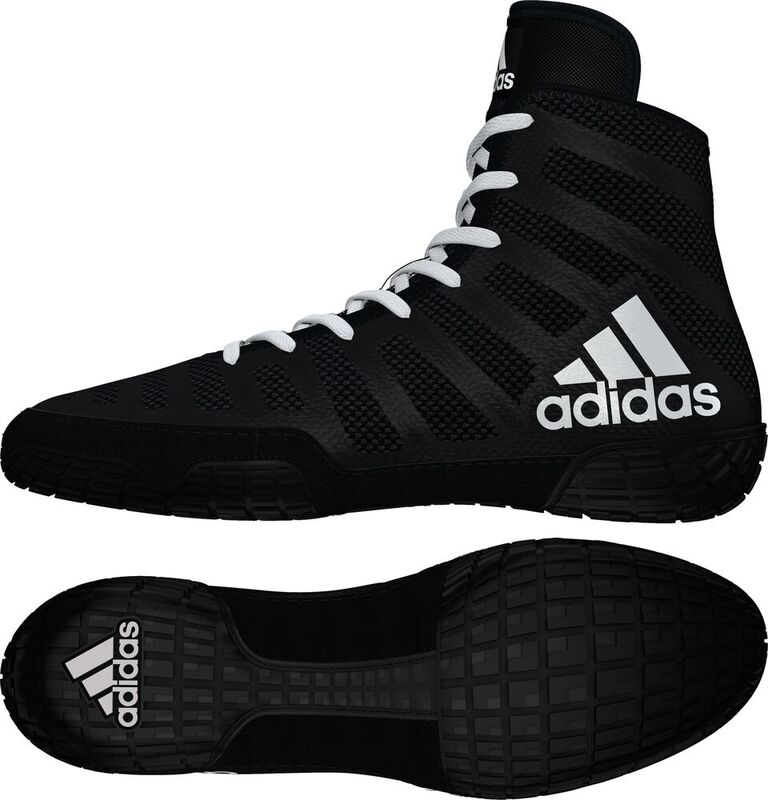 NEW! adiZero™ Varner II Wrestling Shoes, color: Black/White