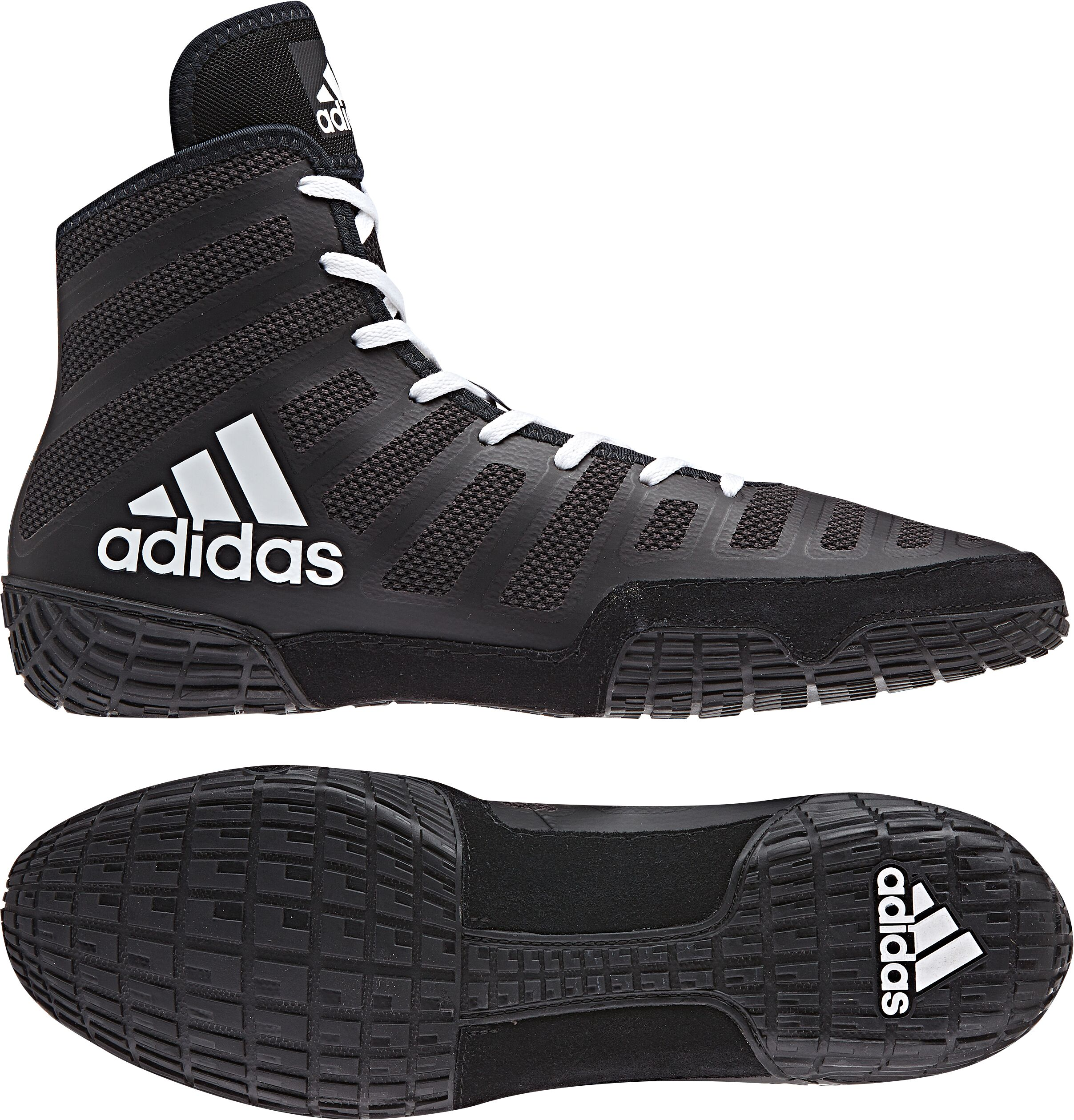 adiZero™ Varner II Wrestling Shoes, color: Black/White