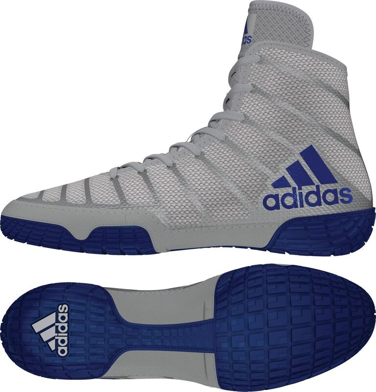 adiZero™ Varner II Wrestling Shoes, color: Grey/Royal/White