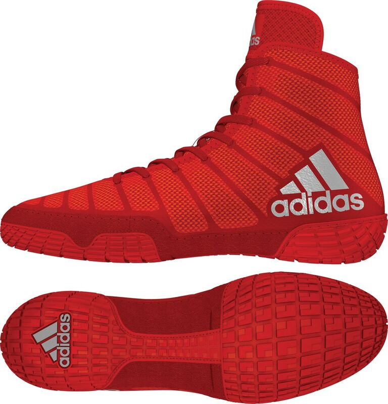 adiZero™ Varner II Wrestling Shoes, color: Red/Silver/Red