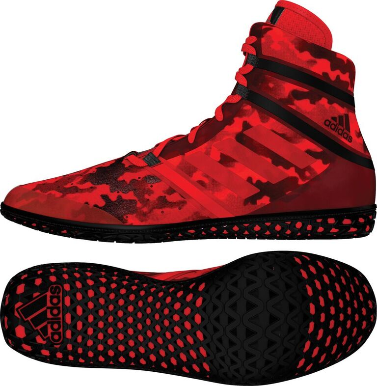 adidas Impact™ Wrestling Shoes, color: Red Camo Print