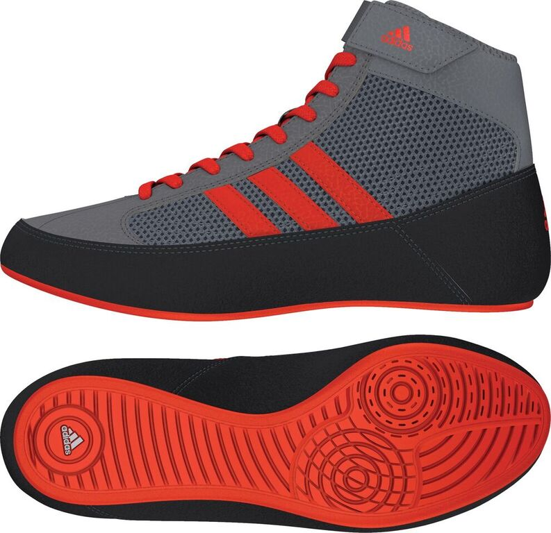NEW!! Adidas HVC 2 Youth - Laced, color: Grey/Solar Red/Grey