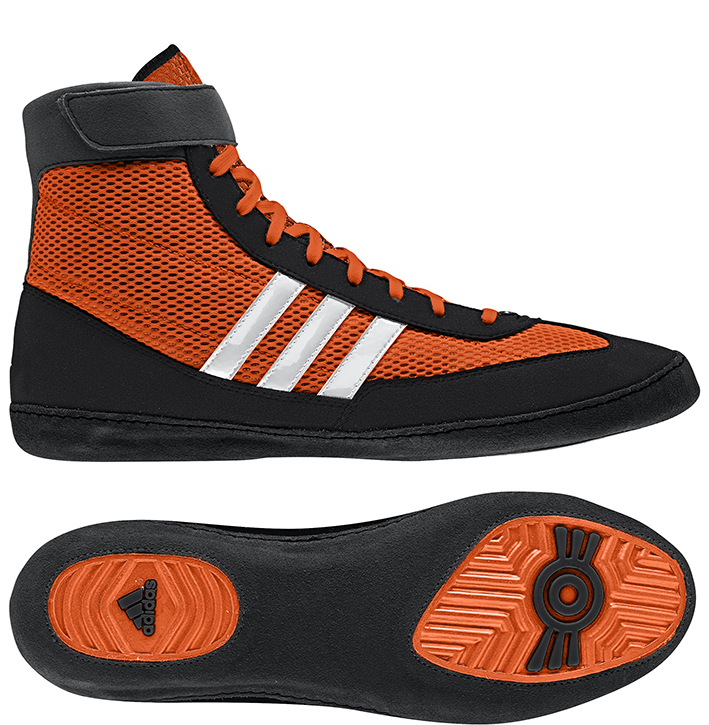 Adidas Combat Speed 4 Wrestling Shoes, color: Orange/Black/White