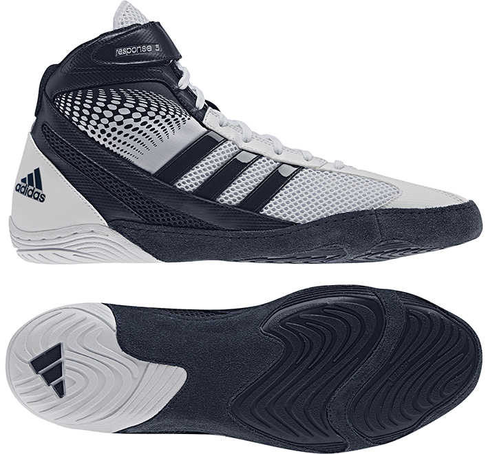 Adidas Response 3.1 Wrestling Shoes, color: White/Navy