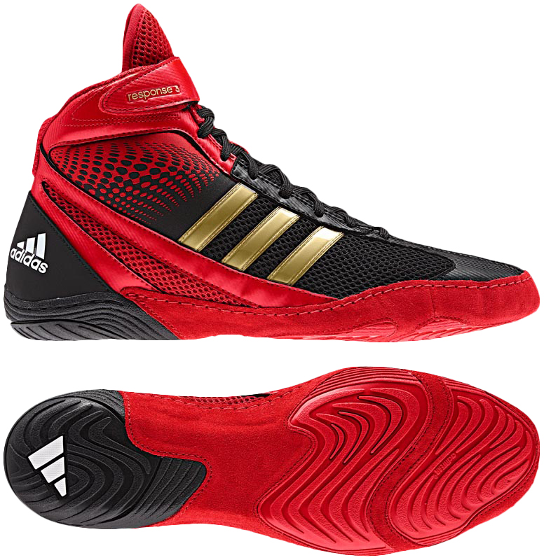 Adidas Response Wrestling Shoes Red Black