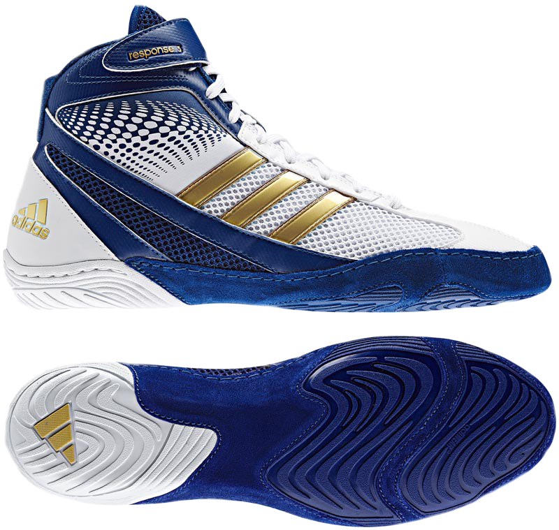 Purple And Gold Nike Wrestling Shoes