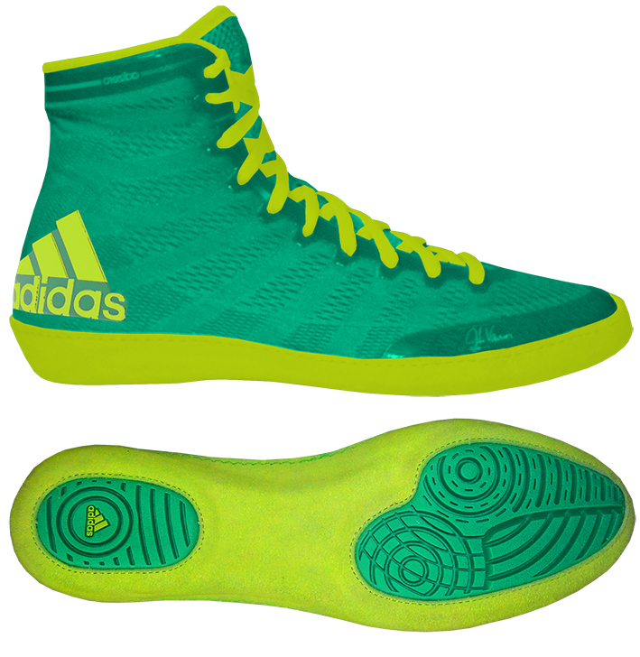 adidas adizero™ Varner Wrestling Shoes, color: Lime/Yellow