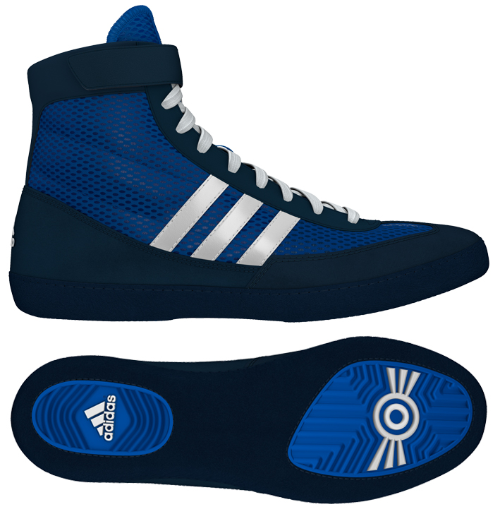 Adidas Combat Speed 4 Wrestling Shoes, color: Royal/White/Navy