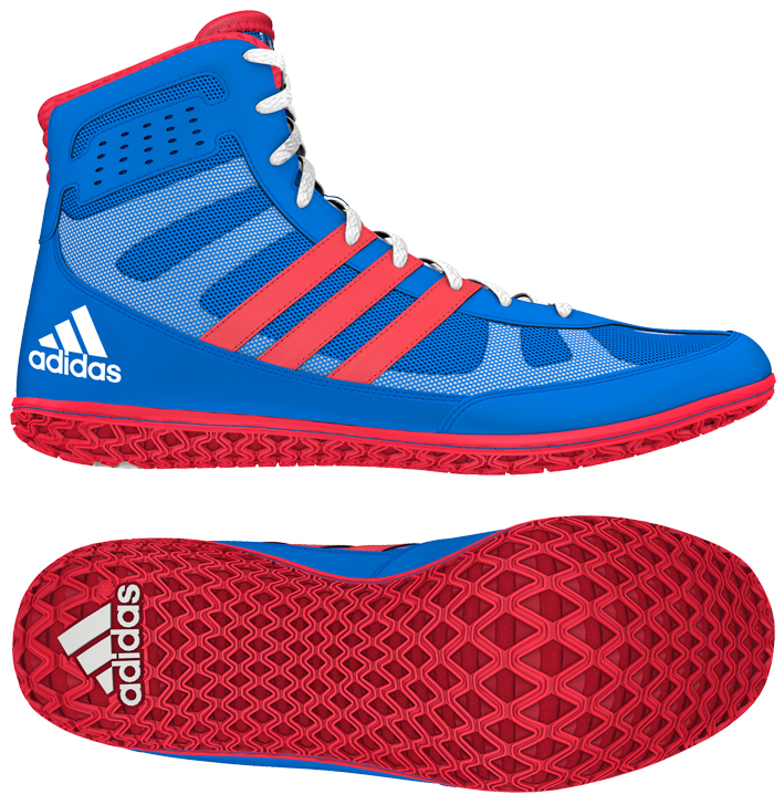 adidas Mat Wizard Wrestling shoe, color: Royal/Red/White