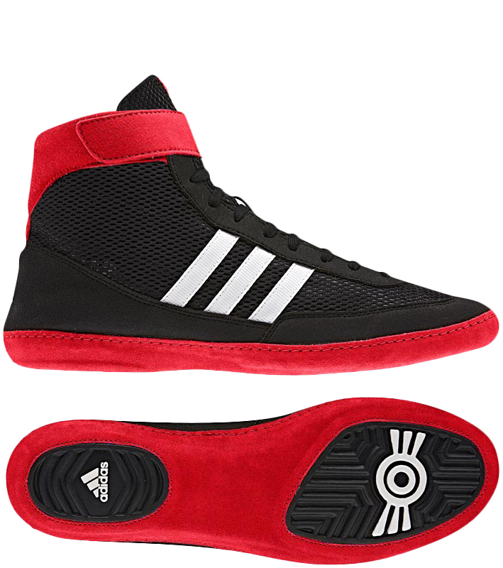 Adidas Combat Speed 4 Wrestling Shoes, color: Black/Red/White ...
