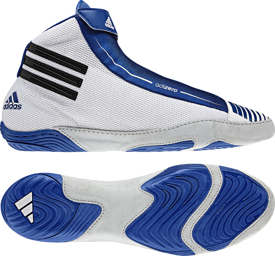 Adidas adizero™ Sydney Wrestling Shoes, color: White/Black/Royal