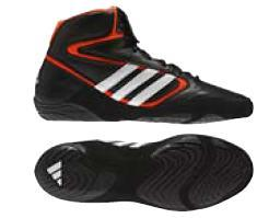 Adidas Mat Wizard IV Wrestling Shoes, color: Black/White/Orange