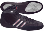 Adidas Combat Speed III Wrestling Shoes, color: Black/Silver/Red