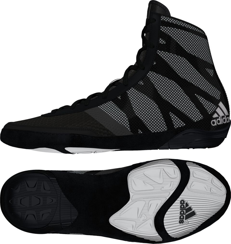 adidas Pretereo III™ Wrestling Shoes, color: Black/Silver/White