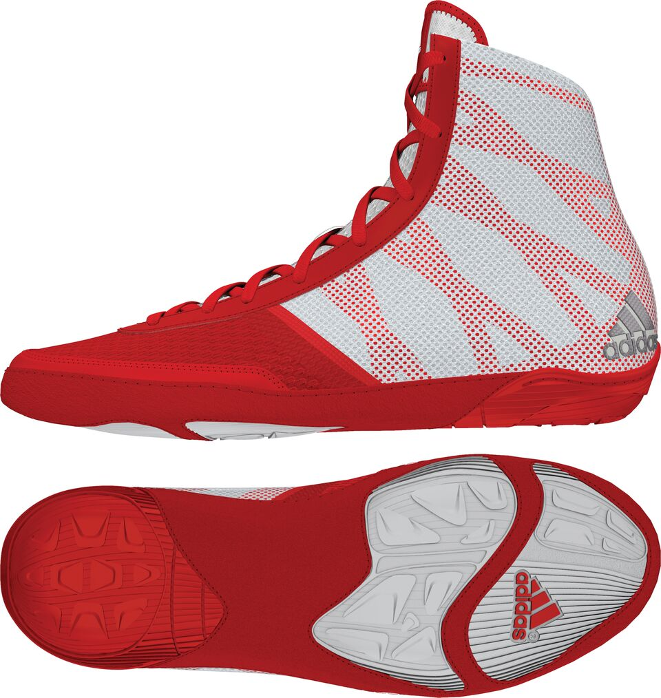 adidas Pretereo III™ Wrestling Shoes, color: Red/Silver/White