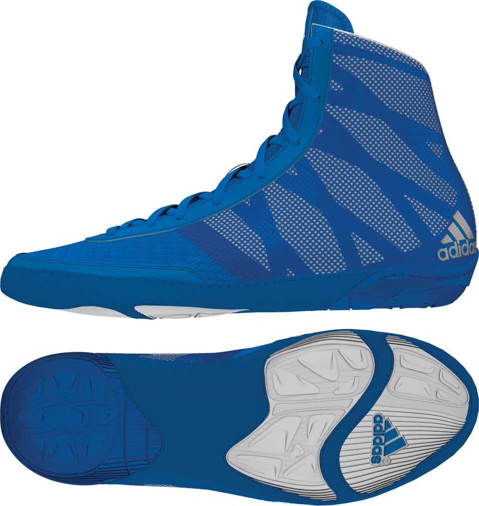 adidas Pretereo III™ Wrestling Shoes, color: Royal/Silver/White