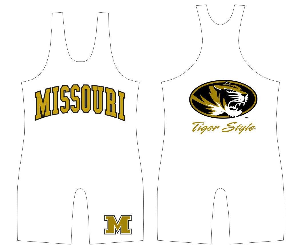 "WC Missouri ""Tiger Style"" Singlet, color: White"