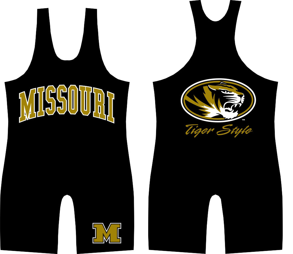 "WC Missouri ""Tiger Style"" Singlet, color: Black"