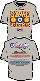 "WC ""SAVE WRESTLING"" T-Shirt, color: Grey"