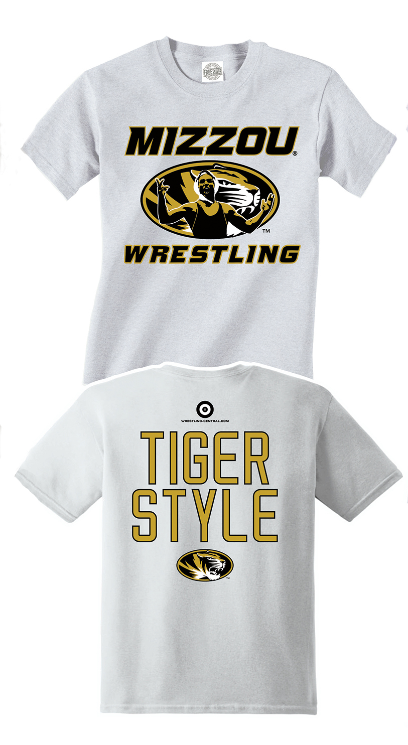 NCAA MIZZOU Wrestling / Tiger Style S/S T-Shirt, color: White
