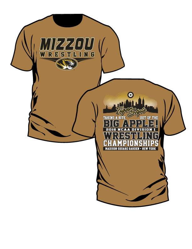 NCAA MIZZOU Wrestling / Tiger Style S/S T-Shirt, color: Old Gold