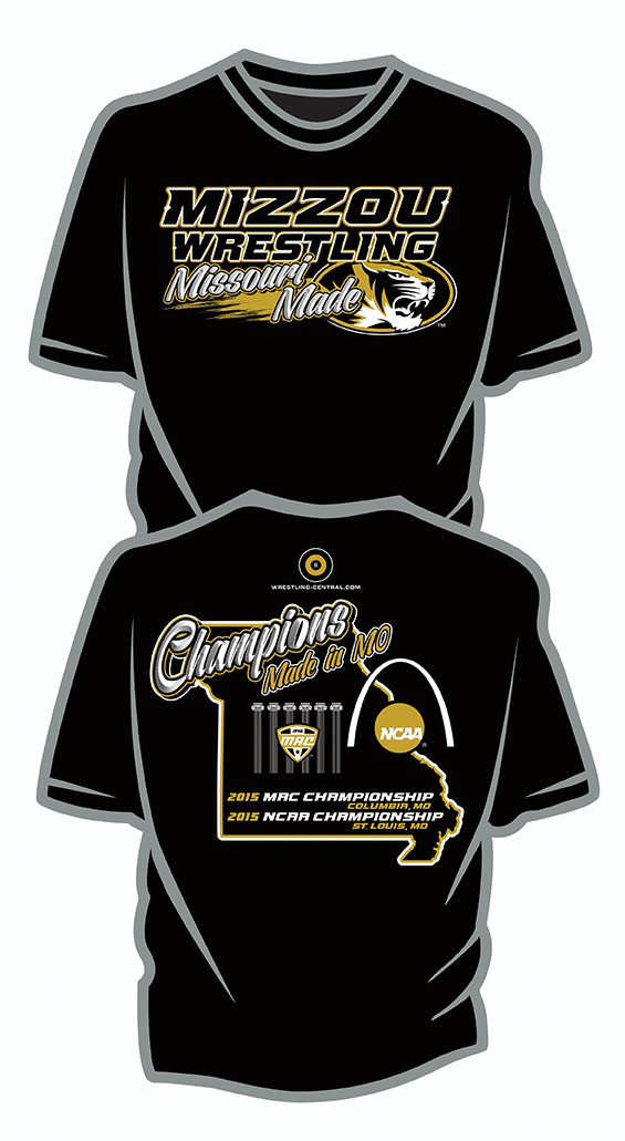NCAA MIZZOU Wrestling / Missouri Made S/S T-Shirt, color: Black