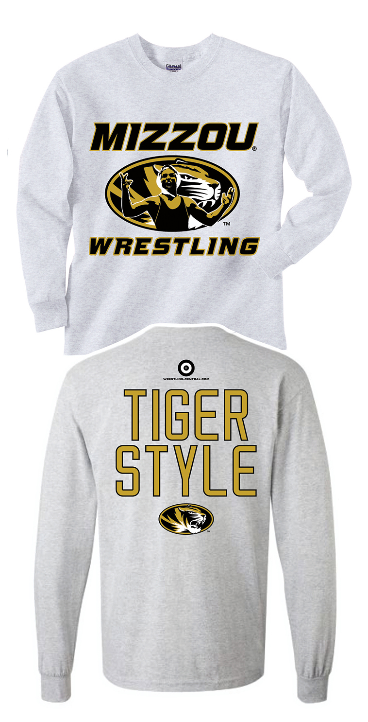 NCAA MIZZOU Wrestling / Tiger Style L/S T-Shirt, color: White