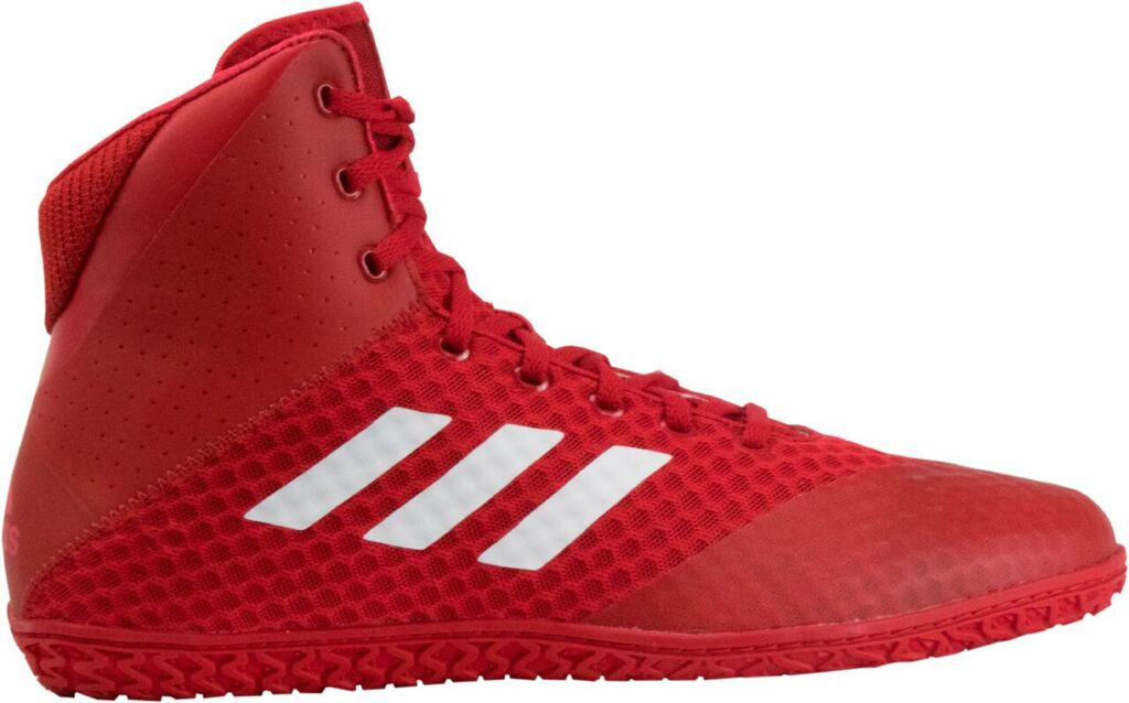 adidas Mat Wizard 4 Wrestling Shoe, color: Red/White