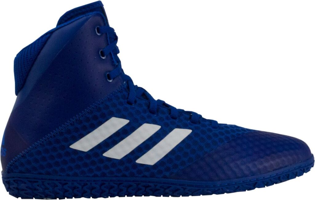 NEW! adidas Mat Wizard 4 Wrestling Shoe, color: Royal/White