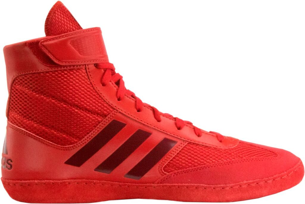 Adidas Combat Speed 5 Wrestling Shoes, color: Red/Dark Red