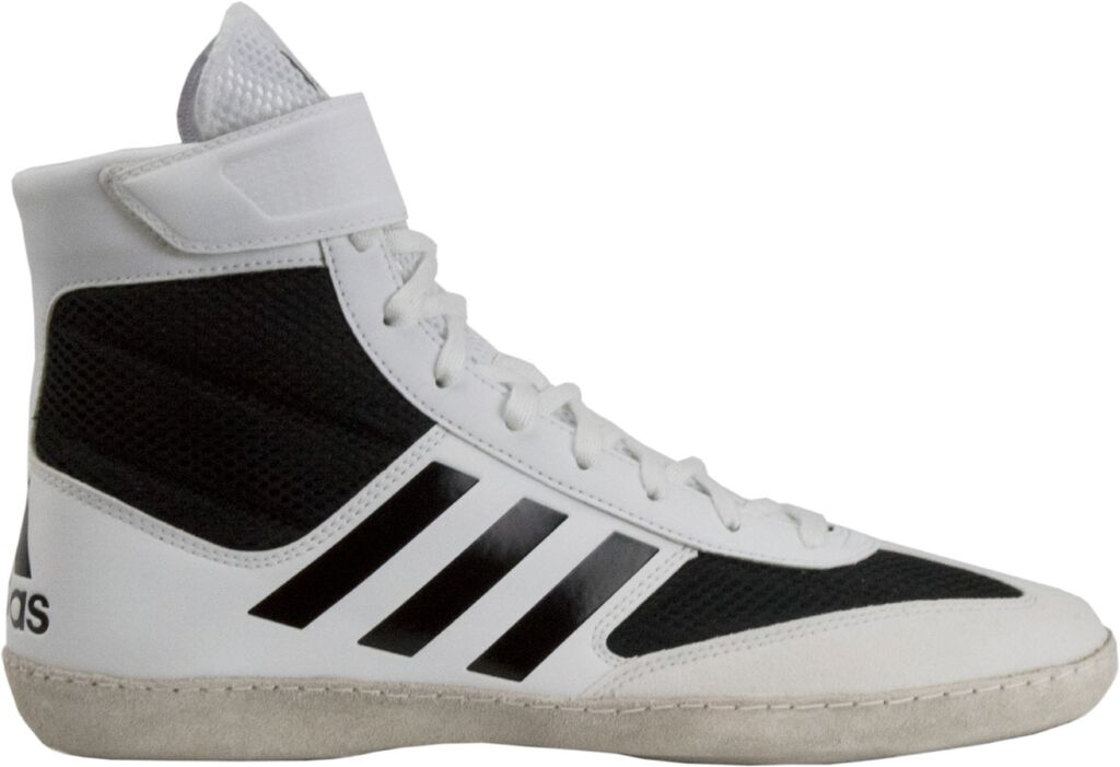 NEW! Adidas Combat Speed 5 Wrestling Shoes, color: White/Black