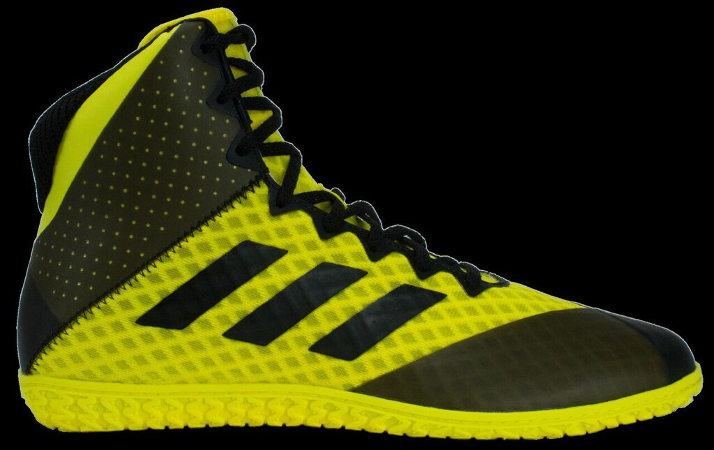 adidas Mat Wizard 4 Wrestling Shoe, color: Yellow/Black