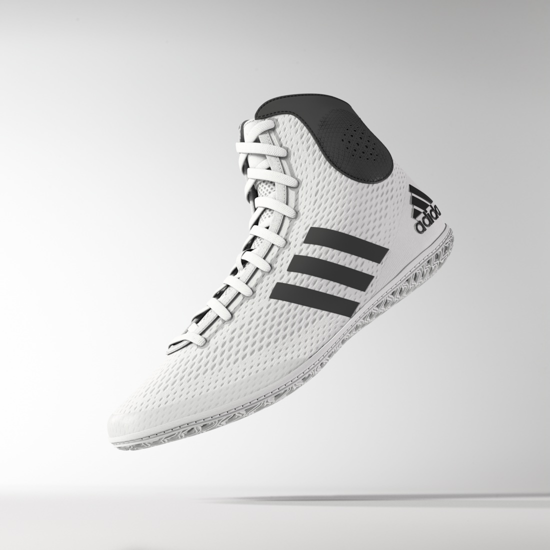 adidas Tech Fall™ Wrestling Shoes, color: White/Black