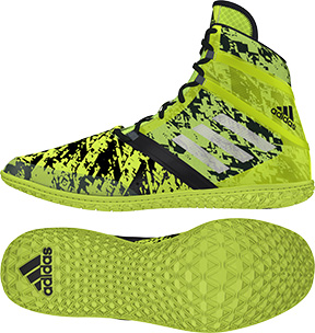 adidas Impact™ Wrestling Shoes, color: Yellow/Silver/Black