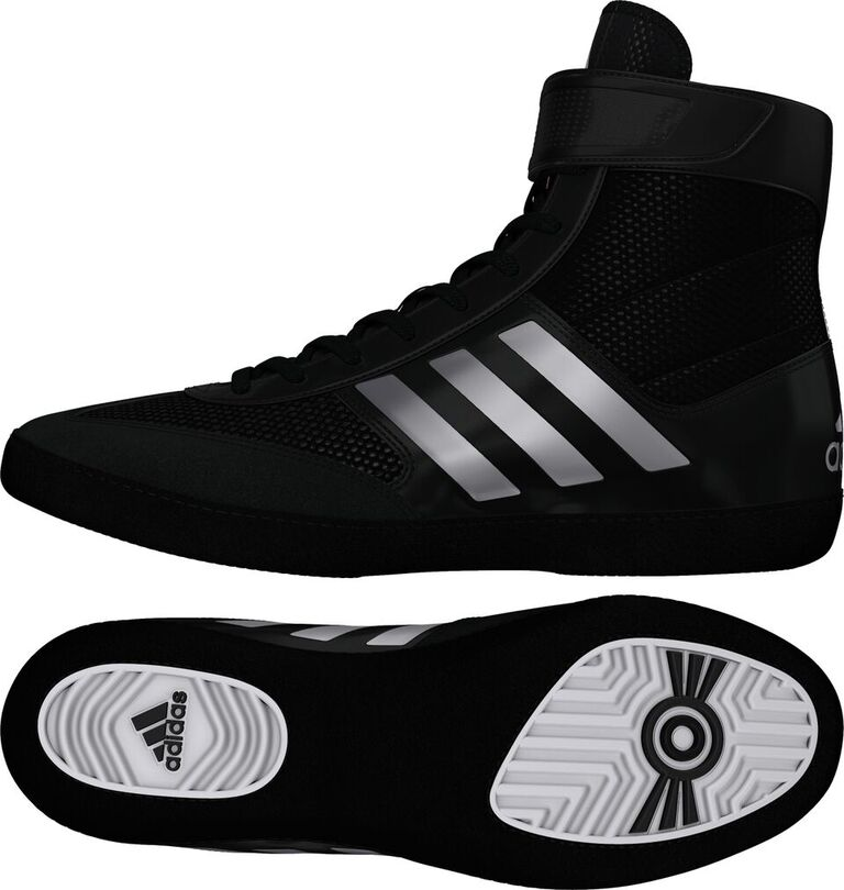 Adidas Combat Speed 5 Wrestling Shoes, color: Black/Silver/Black