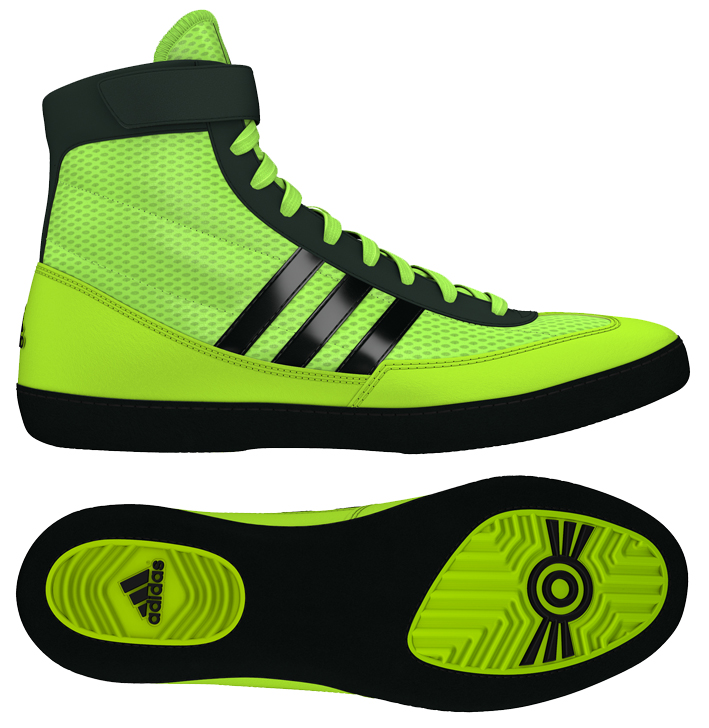 Adidas Combat Speed 4 Wrestling Shoes, color: Solar Yellow/Black