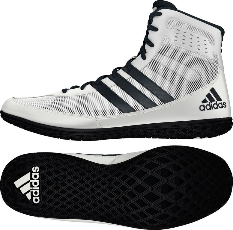 adidas Mat Wizard Wrestling shoe, color: White/Black