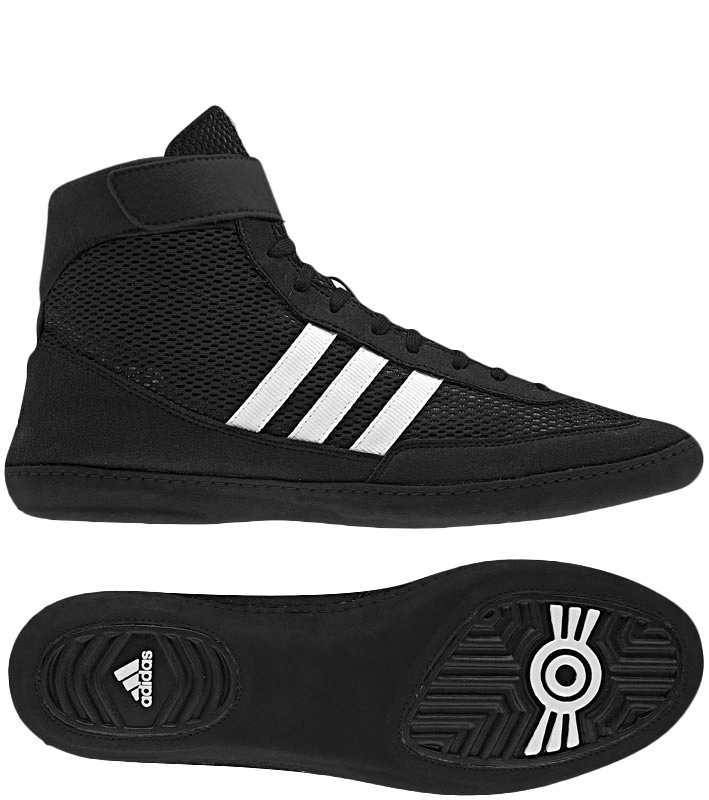 Adidas Combat Speed 4 Wrestling Shoes, color: Black/White/Black