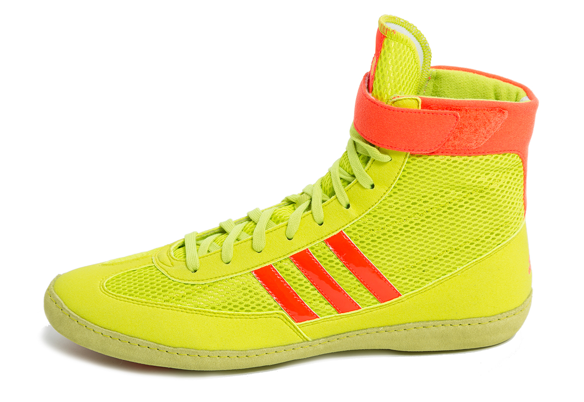 adidas MM Combat Speed Wrestling Shoes, color: Yellow/Orange