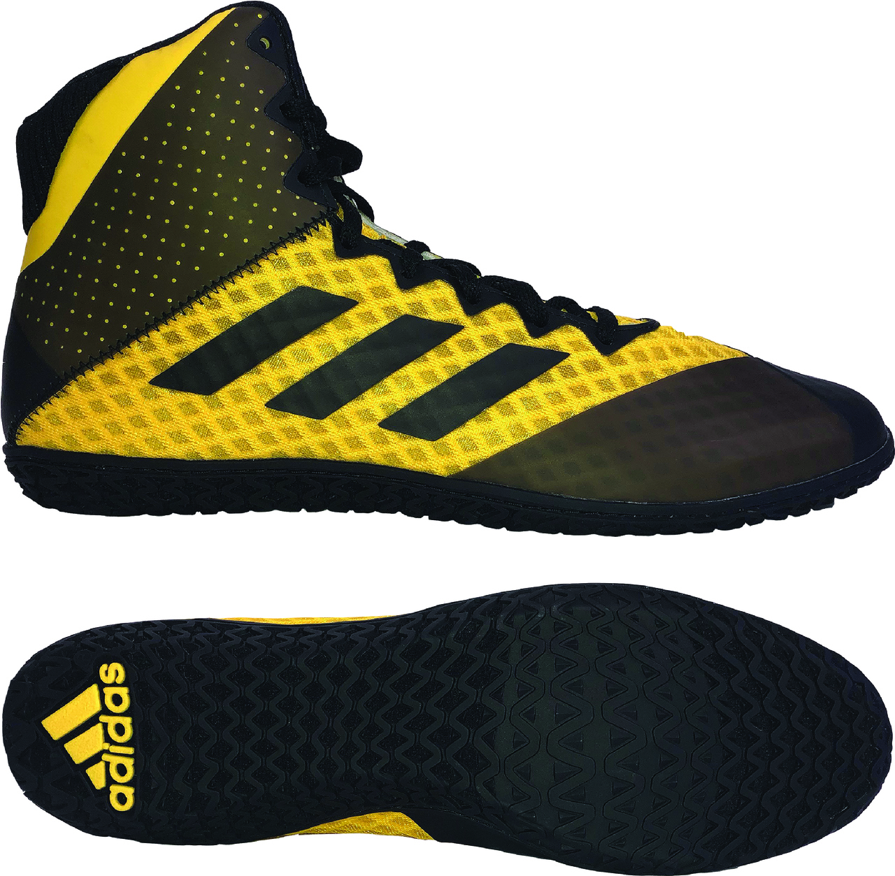 NEW!! adidas Mat Wizard 4 Wrestling Shoe, color: Gold/Black